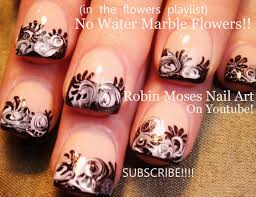 Robin Moses Nail Art: No water Marble Nail art Design tutorial