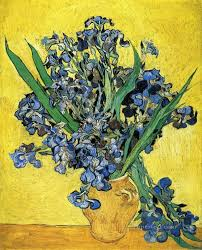 still life with irises vincent van gogh impressionism flowers oil paintings