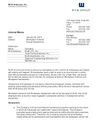 Sample Internal Memo Template Enchanting Internal Memo Examples Samples Corporate Format For Employees