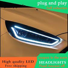 Đầu Đèn Dành cho Xe Ford Focus MK3 2015 2018 Đèn Pha ĐÈN Pha LED DRL Ống  Kính Đôi Tia Bi Xenon GIẤU Năng Động LED Tín Hiệu|Car Light Assembly