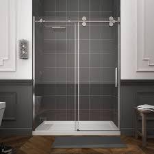 toughened glass hinged frameless shower
