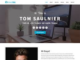 Meetme Free Bootstrap 4 Resume Website Template By Uideck