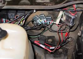 i have to hot wire my hei chevelle tech my relay install including two relays for headlights the ignition relay is on the far left and its circuit breaker has the yellow tie