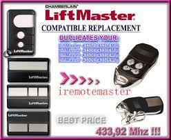 3pcs Chamberlain Liftmaster 4335E 4330E 4332E replacement Remote ...