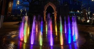 light up water fountain