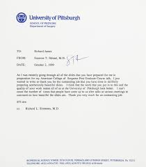 richard james experience letter of reference peter johnson professor of surgery