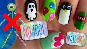 5 Basic Nail Art Designs No Tool Nails Tutorial 5 Nail Art Designs Video