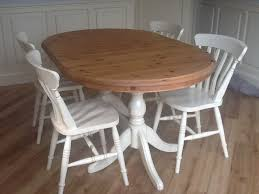pine dining room sets. Exellent Dining Hand Painted Cream Solid Pine Dining Table And 6 Chairs Plus Matching Mirror Intended Room Sets