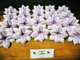 Paper Folded Flower Details About Paper Flowers Lilac White Origami Folded Weddings Special Occasions
