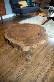 build wood slab coffee table natural