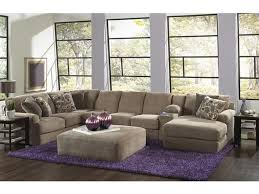 Malibu Sectional in Taupe w Chaise & Console