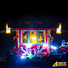Holiday Lights Train Winter Holiday Train 10254 Lego Light Kit Light My Bricks