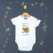gillian kyle bonnie wee lad scottish baby gift scottish baby clothing
