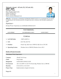 Sample Security Consultant Resume Sap Security Resume Yupar Magdalene Project Org
