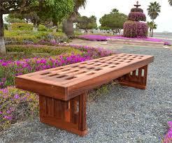 redwood lighthouse garden bench wood