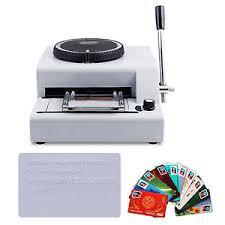 Printer Manual Embosser Stamping id 283961313284 Machine Code Pvc credit 72-character Ebay Card