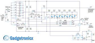 circuit diagram signal generator circuit image diy function generator circuit using quad op amp gadgetronicx on circuit diagram signal generator