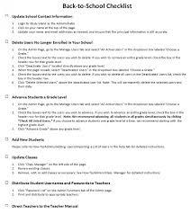 School Checklist Back To School Checklist Study Island Help