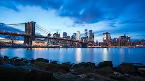 brooklyn bridge blue sky buildings 8k 5f jpg