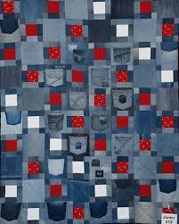 Best 25+ Denim quilt patterns ideas on Pinterest | Denim quilts ... & 'Bleu de Genes' by Sophie Lis, 2010 Auckland Patchworkers and Quilters  Guild. Denim quilt with pockets and red and white accents. Adamdwight.com