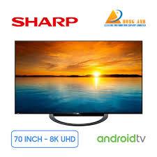 Android Tivi Sharp 8K 70 inch 8T-C70AX1X | Giá rẻ nhất tại Hùng Anh