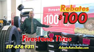 adado tire center 100 00 firestone rebate
