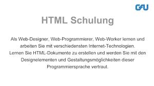 10 HTML Schulungen und Inhouse-Seminare