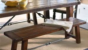 barn kitchen table pottery barn benchwright fixed dining room table and bench