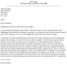 Cover Letter For Hr Hr Officer Cover Letter Sample Lettercv Com