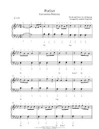 ed sheeran sheet music perfect by ed sheeran piano sheet music intermediate level