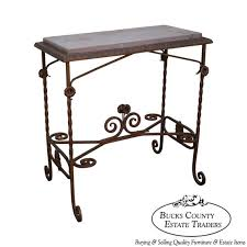 antique wrought iron marble top side