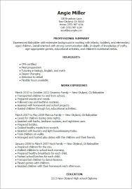 Resume For Nanny Awesome Babysitting Skills Yeniscale Bizmancan Com