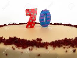 70th Birthday Cake For A Seventieth Birthday Or Anniversary
