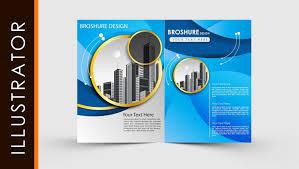 Free Download Brochure Free Download Adobe Illustrator Template Brochure Two Fold