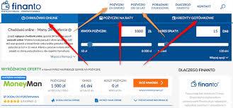 Chwilówki online - porównywarka chwilówek   Finanto.pl
