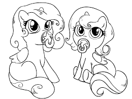 Horse And Pony Coloring Pages Dapmalaysiainfo