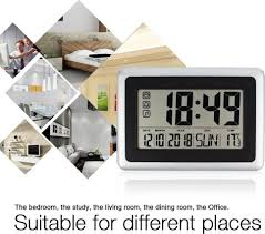 large display digital wall clock silent