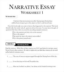Example Of Free Narrative Essay Outline Worksheet In Persuasive