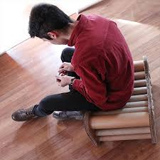 cardboard tube furniture. Cardboard Seat Or Stool Is Made Using Recycled Boxes And Tubes Tube Furniture C