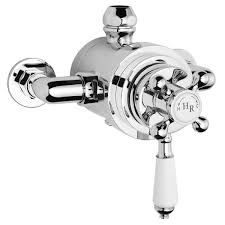 hudson reed traditional dual exposed thermostatic shower valve chrome a3091e