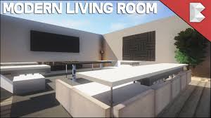 Modern For Living Room Minecraft Modern Living Room Tutorial Interior Design Series Ep5