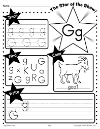 G Star of the show Letter worksheet
