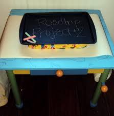 magnetic chalkboard lap desk for long car rides