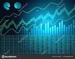 Blue Forex Chart Wallpaper Stock Photo Peshkov 251546380