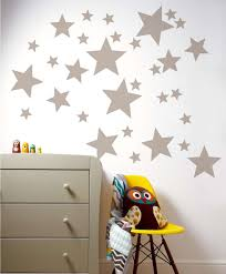 stars wall confetti set of 40 stars vinyl wall decal silver star nursery decal