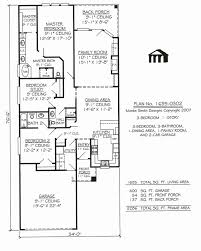 narrow lot house plans with rear garage elegant e story house plans for narrow lots awesome