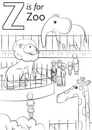 z is for zoo coloring page. Letter Is For Zoo Coloring Page In Supercoloringcom