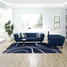 8 x10 rug abstract swirl area rug in navy and ivory lifestyle 8 foot by 10