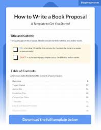 How To Write A Book Proposal A Master Guide With Template