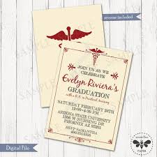 Formal College Graduation Announcements Formal Nursing Graduation Invitation Printable Medical College Graduation Announcement